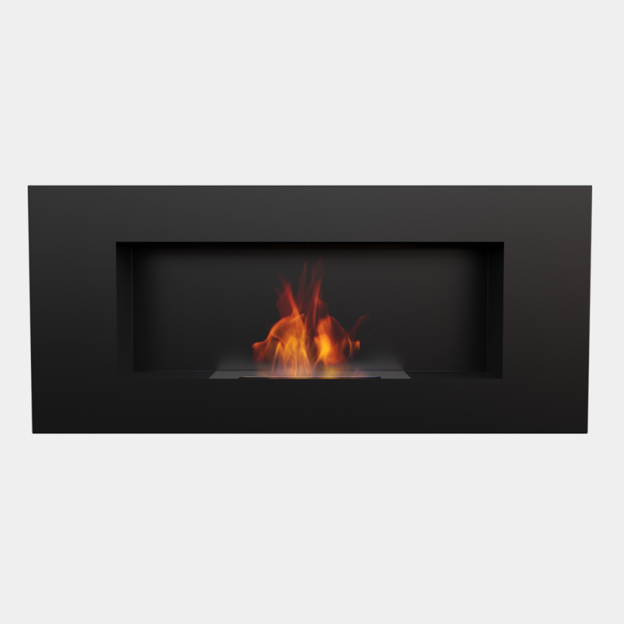 CHIMENEA DE PARED NEGRA LONGITUD 90 CMS 1