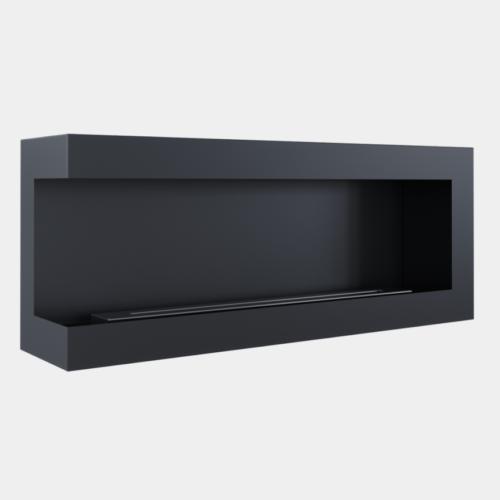 Chimenea de pared negra longitud 120 cms apertura izquierda 2